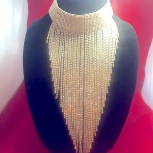Rhinestone V-neck necklace